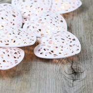 White Metal Curl Hearts Fairy Lights