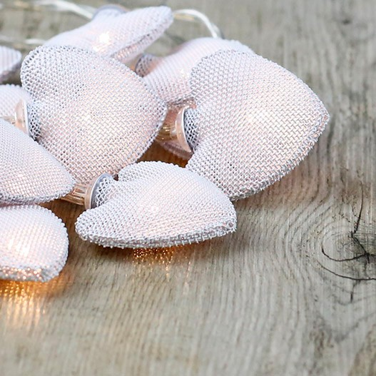 White Metal Little Hearts Fairy Lights