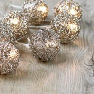White Metal Curly Wire Balls Fairy Lights