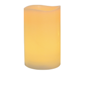 Ivory Battery LED Wax Pillar Candles 12""