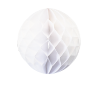 White Honeycomb Paper Ball 16""
