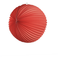 Red Accordion Paper Lantern Ball 14""