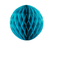 Petrol Blue Honeycomb Paper Ball 8""