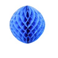 Royal Blue Honeycomb Paper Ball 12""