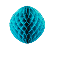 Petrol Blue Honeycomb Paper Ball 12""