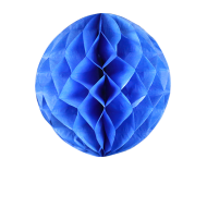 Royal Blue Honeycomb Paper Ball 16""