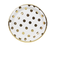 Assiettes Pois Or x8
