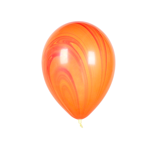 Ballon Marbré Rouge et Orange x1