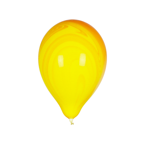 Ballon Marbré Jaune et Orange