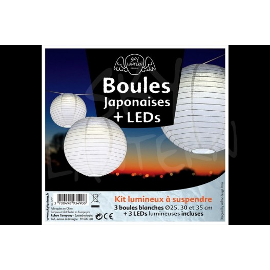 Boules + LED Blanches