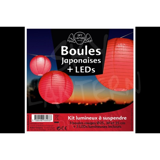 Boules + LED Rouges