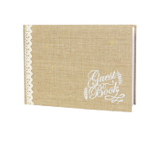 Livre d'or Guest Book en Jute