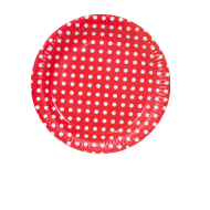 Assiettes Pois Rouge x10