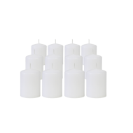 Pack de 12 Bougies Votives Blanc 7cm