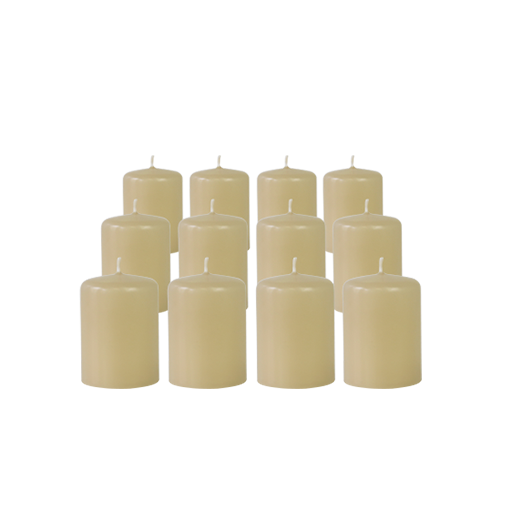Pack de 12 Bougies Votives Sable 7cm