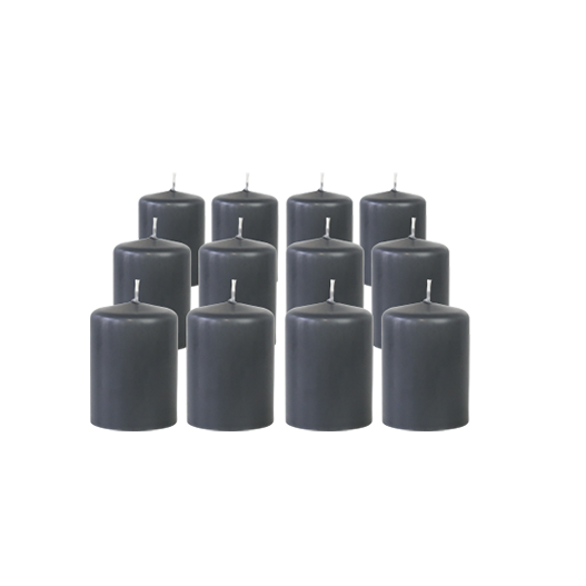 Pack de 12 Bougies Votives Gris 7cm