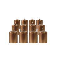Pack de 12 Bougies Votives Bronze 7cm