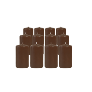 Pack de 12 Bougies Cylindres Chocolat 11cm