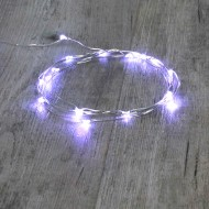 Guirlande Argent 20 Micro LED Blanc Froid