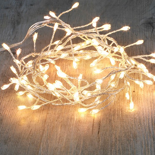 Guirlande Branche Argent 100 Micro LED Blanc Chaud