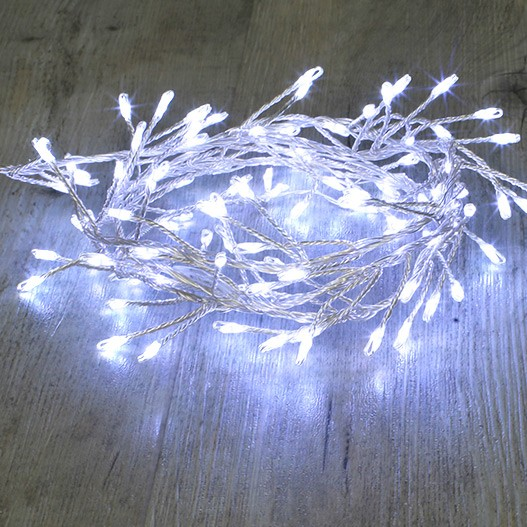 Guirlande Branche Argent 100 Micro LED Blanc Froid