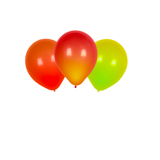 Ballon LED Rouge, Orange et Jaune