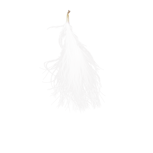 Plumes Blanches 7cm x20
