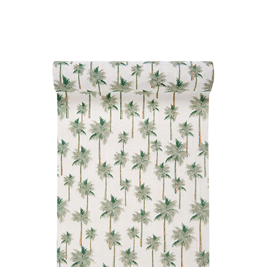 Chemin De Table Coton Tropical Vert 3 m