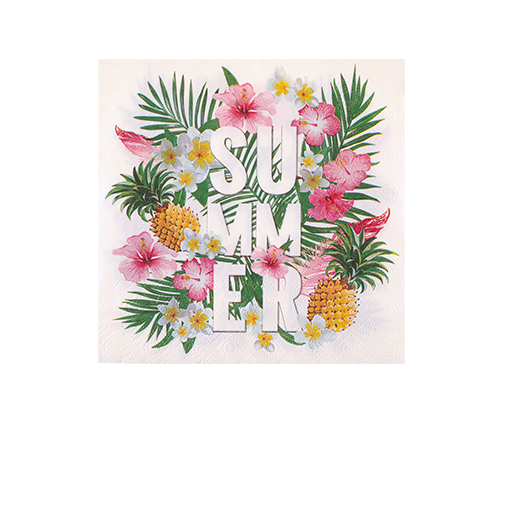 Serviette Papier Tropical Blanc x20