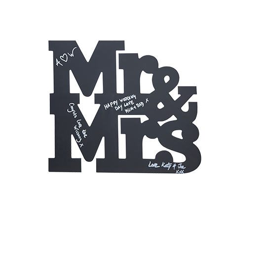 Livre D'Or Mr & Mrs Noir