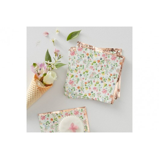 Serviette Papier Liberty Rose Pastel x16
