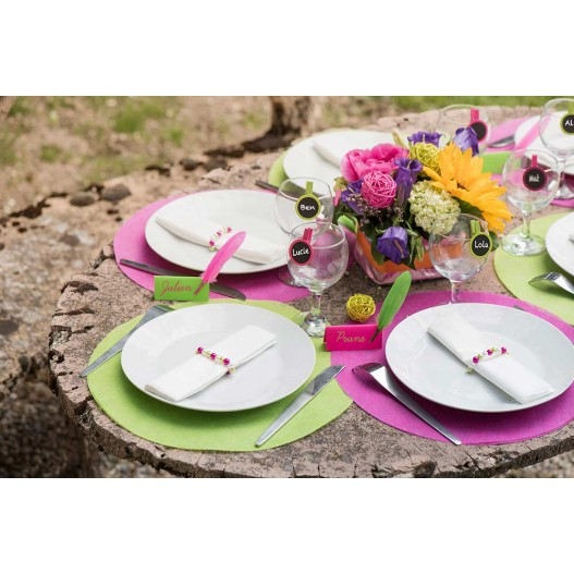 Set de table Fuchsia 34 cm x50