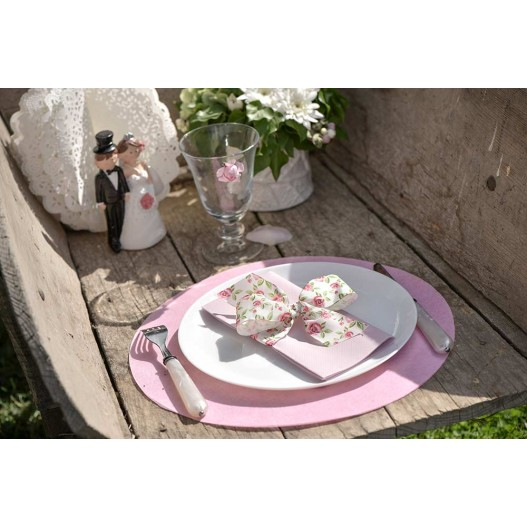 Set de table Métallisé Or 34 cm x6
