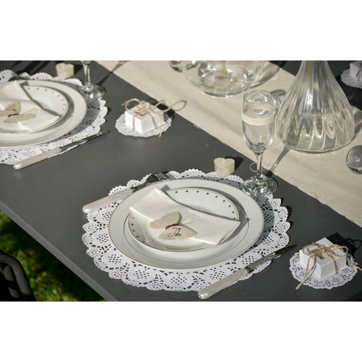 Set de table Dentelle Blanc 35 cm x10