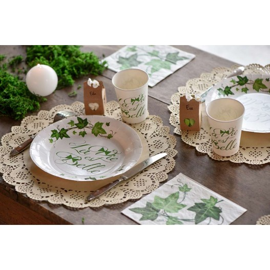 Set de table Dentelle Kraft 35 cm x10
