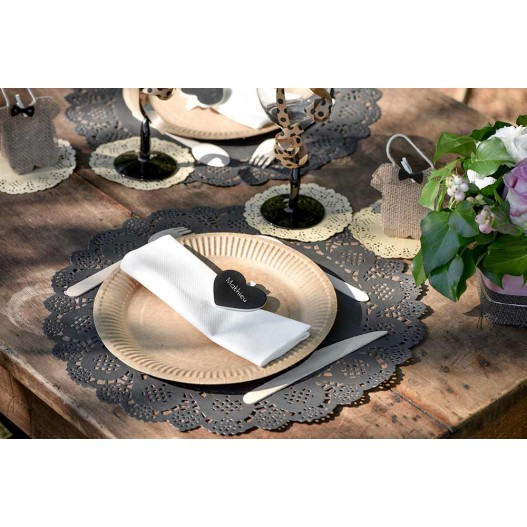 Set de table Dentelle Noir 35 cm x10