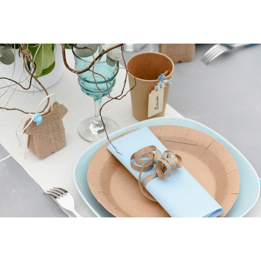 Assiette Jetable Kraft x10
