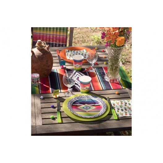 Chemin De Table Mexique Multicolore 5 m