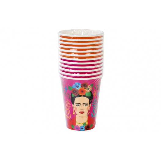 Gobelet Carton Frida Kahlo Orange x12