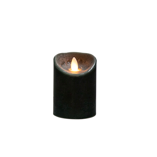 Bougie Led Flamme Vacillante Noir 10 cm