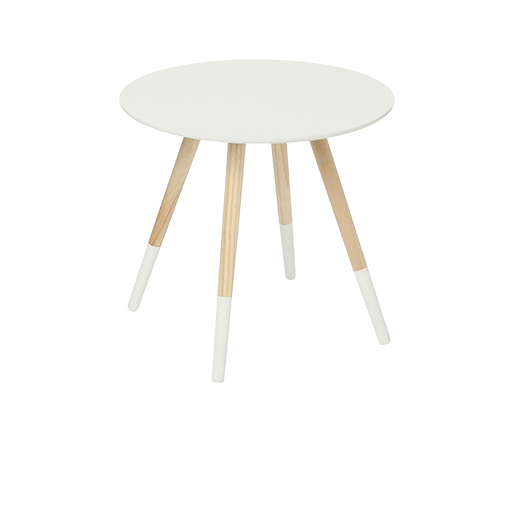 Table Basse Scandinave Bois Blanc 45 cm