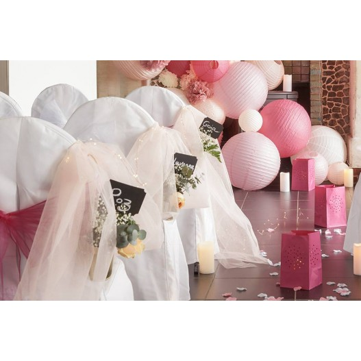 Chemin de Table Tulle Rose Pâle 9m