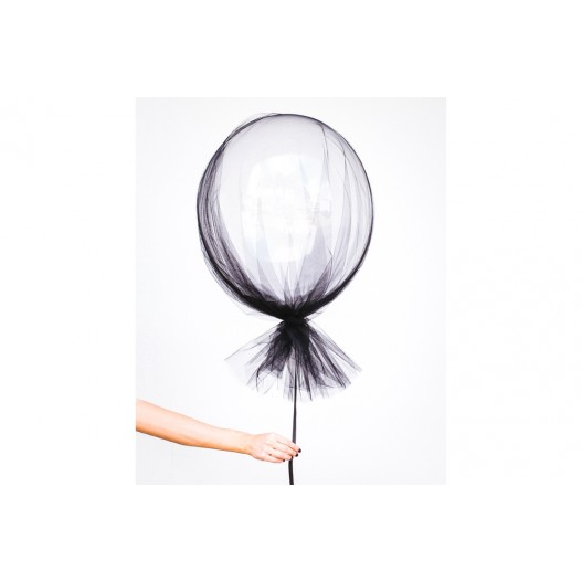 Chemin de Table Tulle Noir 9m