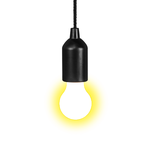 Suspension Ampoule Clic Clac Jaune