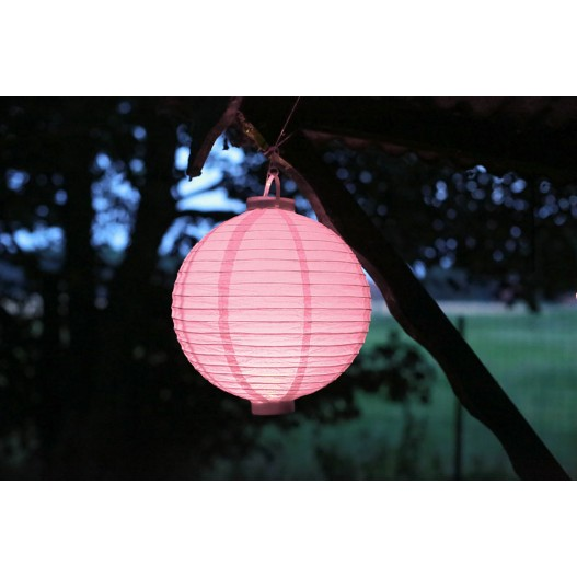 Lampion LED Rose Pâle