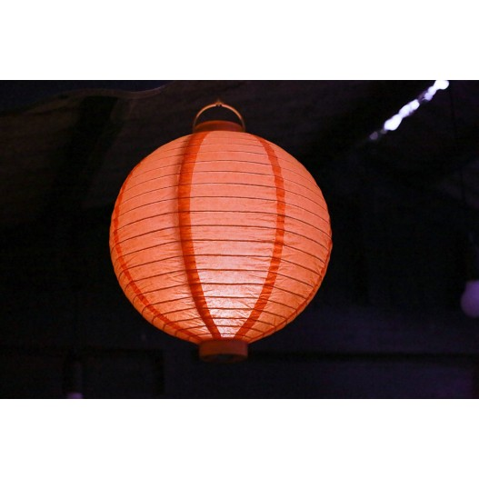 Lampion Led Orange 30 cm