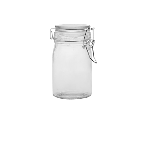 Bocal À Conserve contenance 100ml Transparent fermoir argent